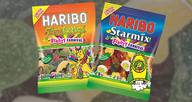 Haribo Carnival Frenzy limited edition Tangfastics and Starmix