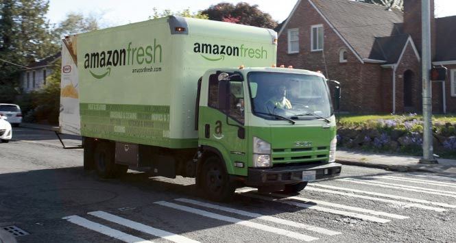 Amazon Fresh lorry
