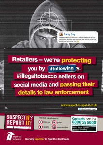 Imperial Tobacco Suspect It Report It poster