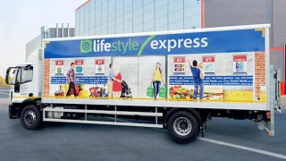 Lifestyle Express branded lorry