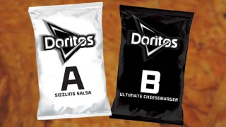 Doritos A and B flavours