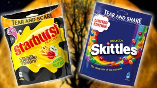 Skittles and Starburst limited edition Halloween packs