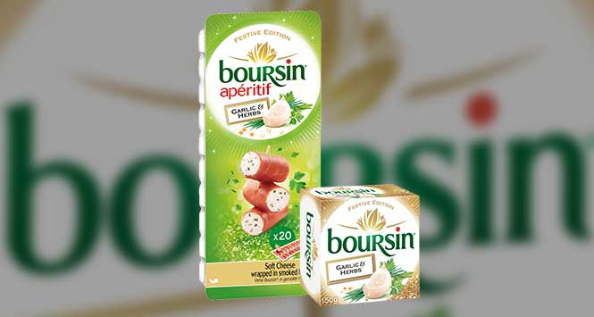 Boursin festive packaging