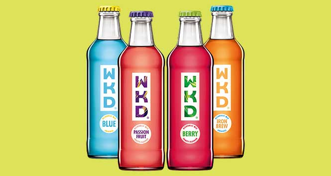 New look WKD bottles