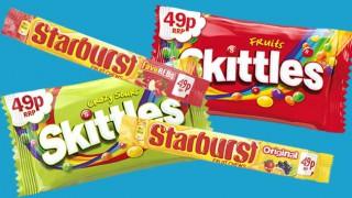 Skittles and Starburst singles
