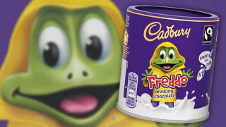 Freddo drinking chocolate