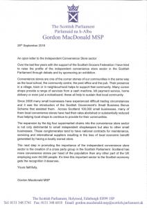 Open letter from Gordon MacDonald