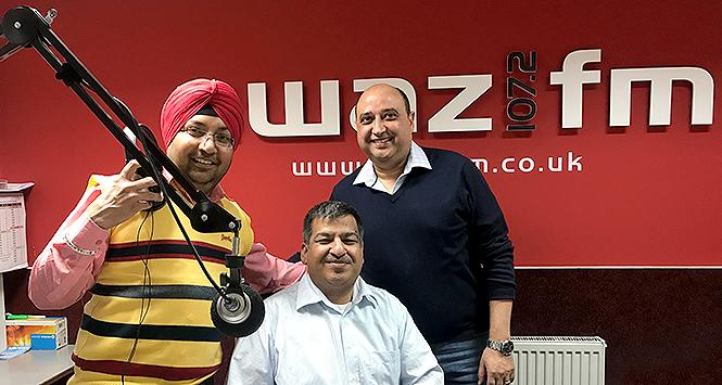 Abdul Majid and Pete Cheema in radio studio