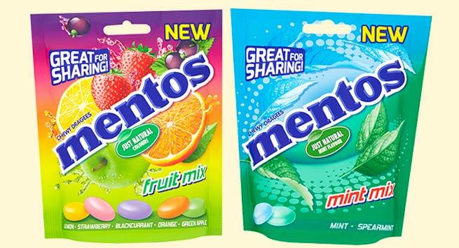 Mentos sharing bags