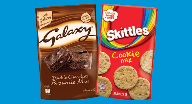 Galaxy and Skittles cookie mixes