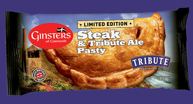 Ginsters Steak and Tribute Ale pasty