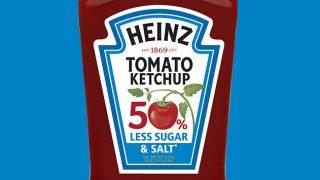 Heinz Tomato Ketchup 50% less sugar and salt