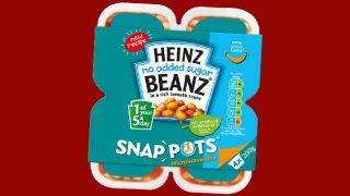 Heinz Beanz No Added Sugar snap pots