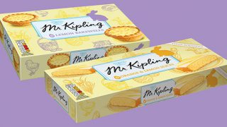 Mr Kipling Orange & Lemon Slices alongside Lemon Bakewells