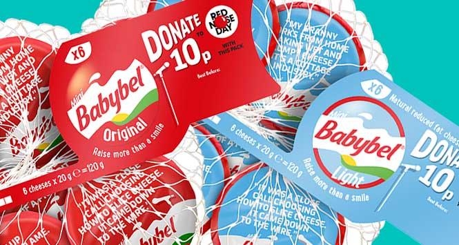 Comic Relief packs of Mini Babybel