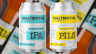 Maltsmiths IPA and Pilsner