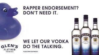 Glen's Platinum Vodka advert