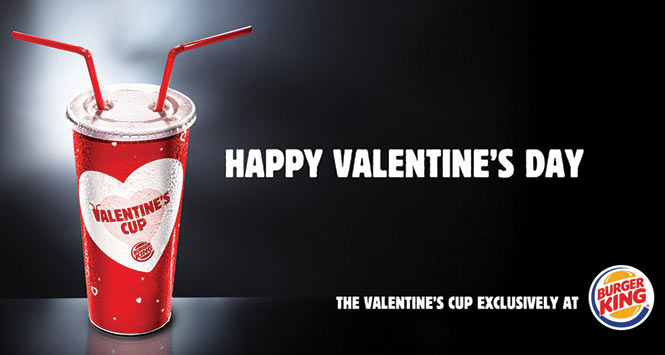 Burgerking Valentine's Day cup