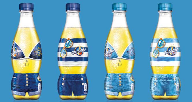 Orangina Bikini and Trunk packaging