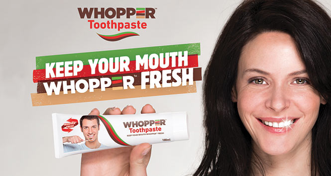 Whopper toothpaste