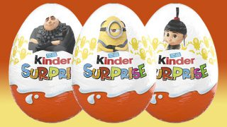 Kinder Surprise Despicable Me 3 eggs