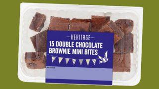 Nisa Heritage chocolate brownie mini bites