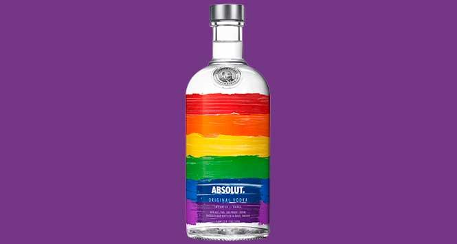 Absolut rainbow bottle