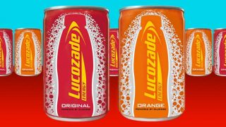 Lucozade Energy sample cans