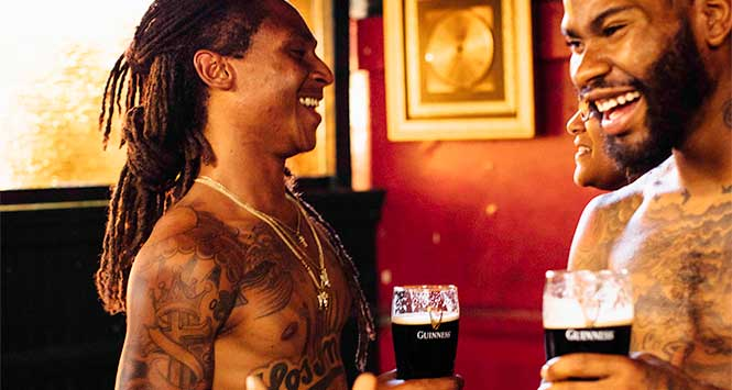 Compton Cowboys drinking Guinness