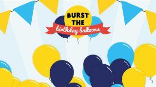 Nisa's birthday balloons
