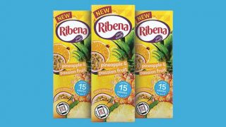 Ribena Pineapple & Passionfruit cartons