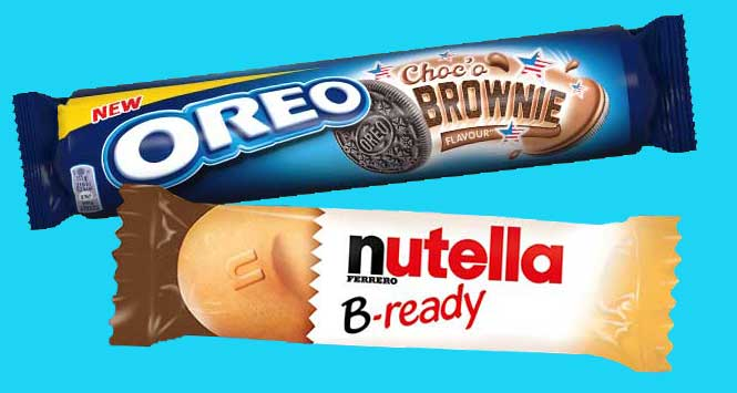 Oreo biscuit and Nutella b-ready bar