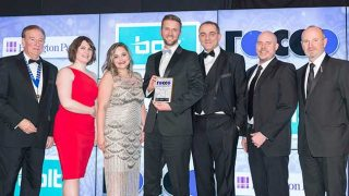 Bolt Learning team collect award