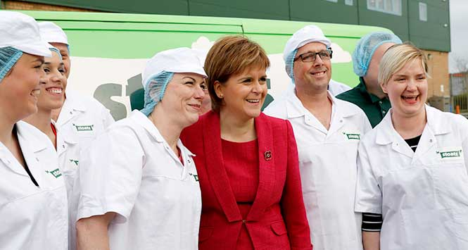 Nicola Sturgeon at Stoats factory