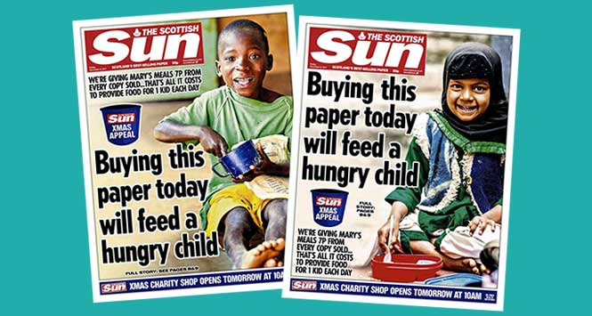 Scottish Sun Mary's Meals covers