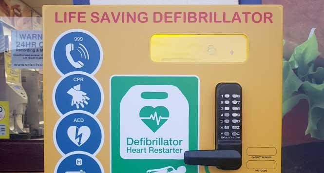 Corseford Keystore's defibrillator