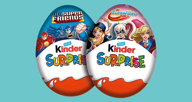 Kinder superhero eggs