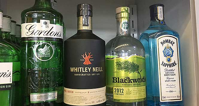 Woodlands Local's gin range