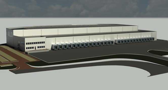 GGI rendering of Aldi's new Bathgate facility