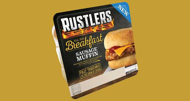 Rustlers All Day Breakfast Muffin