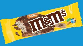M&M's Peanut Ice Cream single