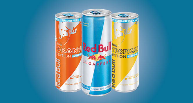 Red Bull sugar free range