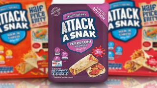 Attack A Snak Pepperoni 'N' Cheese with Tomato Ketchup