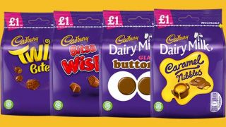 chocolate bags from Mondelez