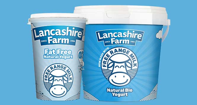 Lancashire Farm yogurt, made with free range milk