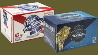 Pabst and Heverlee fridge packs