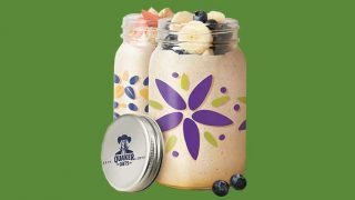 Quaker Oats mason jar