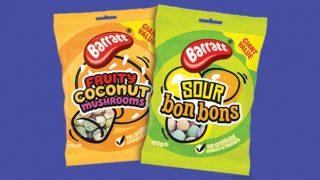 Barratt Fruity Coconut Mushrooms and Sour Bonbons