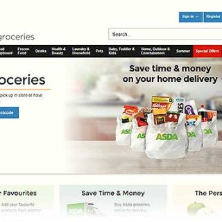 online grocery shopping with Asda