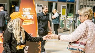 Lucozade Energy sampling activity